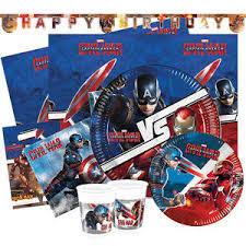 captain america civil war birthday range tableware balloons