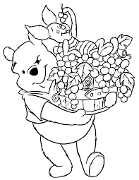 winnie pooh carrying grapes piglet coloring u0026