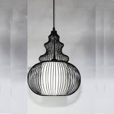 Industrial Pendant Light Industrial Hanging Pendant Light With Lagenaria Shade Wire Net