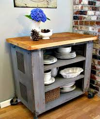 Movable Islands For Kitchen Kitchen Diy Portable Island With Steel Pipe And Wood Planks Also