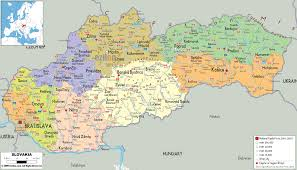 Middle East Map Capitals by Detailed Clear Large Map Of Slovakia Ezilon Maps