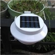 Solar Powered Fence Lights - minidiva 3 led solar fence light led solar gutters light solar led
