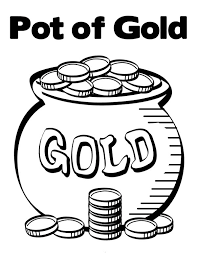 rainbow pot of gold coloring pages pot of gold contain bunch of gold coins coloring page pot of gold