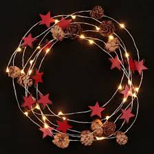 philips 30ct battery operated led mini pinecones and