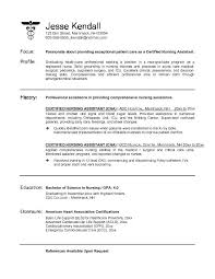 free resume objective exles for nurses certified nursing assistant resume sle exle certified
