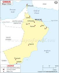 Map Of India Cities Oman Cities Map Cities In Oman