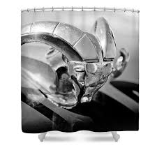 1952 dodge ram ornament shower curtain for sale by reger