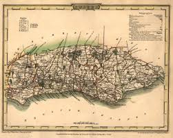 Hastings England Map by George Cole U0027s Map Of 1808