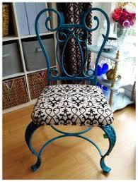 wrought iron patio ottoman nice iron chair pinteres