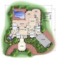mediterranean style house plans with photos florida style floor plan 3 bedrms 4 baths 3773 sq ft 133 1032