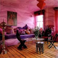 Pink Walls Purple Sofa Exotic Designa Room To Enjoy Awesome - Exotic bedroom designs