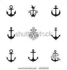 set emblems anchor design elements poster stock vector 671815300