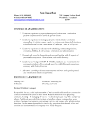Project Manager Job Description For Resume Project Worker Cover Letter