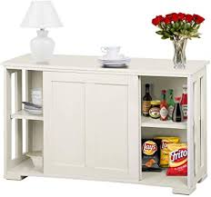 antique white kitchen storage cabinet topeakmart kitchen storage sideboard antique white stackable cabinet with sliding door inner adjustable shelf for home cupboard buffet dining room