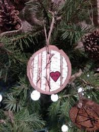 Christmas Ornaments With Initials Family Trees Wood Burned Ornament Personalized By Forageworkshop