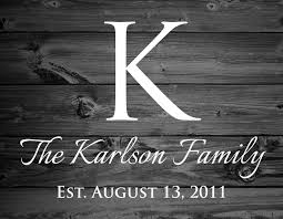 family established signs stencil or wall decal create