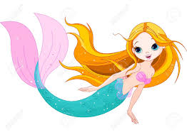 illustration swimming cute mermaid royalty free cliparts