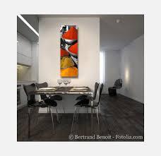 tableau design pour cuisine tableau moderne aux forts contrastes entre couleurs épicées et