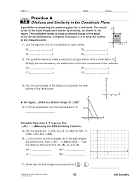 dilations in the coordinate plane worksheet free worksheets