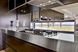 Stainless Steel Bench Top Kitchen Designs Soverign Island Darren James Interiors