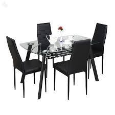 discount dining room sets royal oak milan four seater dining table set black best home
