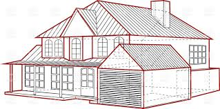 house layout clipart layout of country house plan of building with garage royalty free