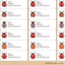 printable ladybug species address labels