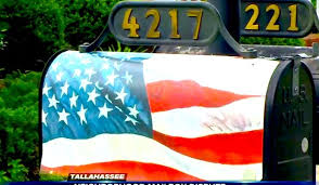 themed mailbox navy veteran fights hoa flag themed mailbox i view this as