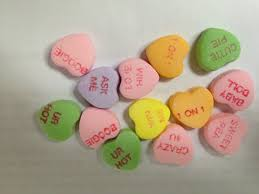 heart candy sayings s day analysis of sweetheart candies show they re