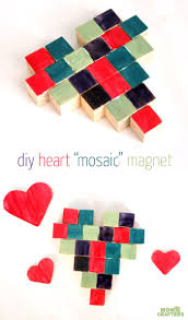 make a mock mosaic heart magnet crafts valentines and crafts