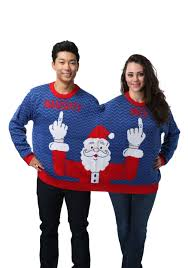two person and santa sweater