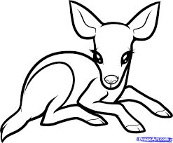 baby deer clipart black and white clipartsgram com