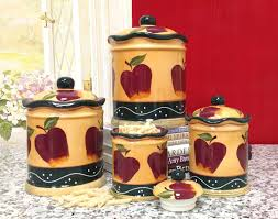 apple canisters for the kitchen apple kitchen decor