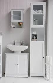 attractive tall white bathroom cabinet bathroom storage ideas