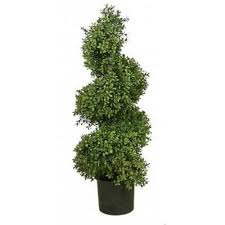 5 artificial wide 36 boxwood uv outdoor topiary tree spiral 4 6