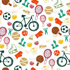 sports wrapping paper seamless pattern with sport icons by pictulandra graphicriver