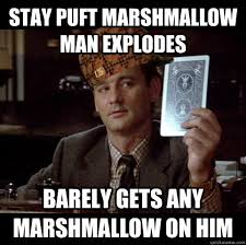 Stay Puft Marshmallow Man Meme - stay puft marshmallow man explodes barely gets any marshmallow on