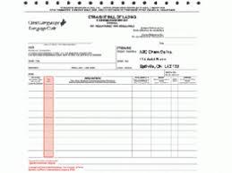 preprinted dangerous goods bills of lading 4 part ncr bilingual