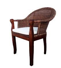 Esszimmerstuhl Braun Sam Rattan Esszimmer Stuhl In Farbe Braun Mit Armlehnen Kissen