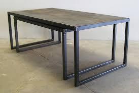 furniture amalgam steel nesting coffee table with black steel legs