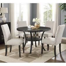 roundhill furniture biony espresso 5 piece dining set u0026 reviews