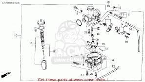 2000 honda recon carburetor diagram honda recon 250 carburetor