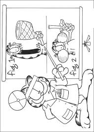 doctor garfield coloring page free printable coloring pages