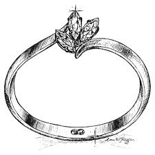 drawn ring pencil and in color drawn ring