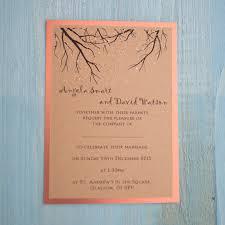 Wedding Invitations Glasgow Woodland Glitter Wedding Invitation U0026 Rsvp Copper Vintage