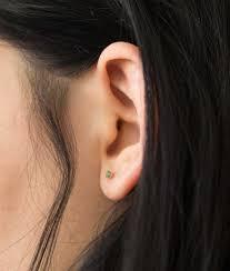 earrings on ear minutia emerald earrings web exclusive wwake