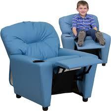 light blue recliner chair flash furniture contemporary light blue vinyl kids recliner with cup