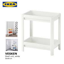 Ikea Bathroom Shelves Storage by Ikea Vesken Plastic Bathroom Shelf Unit Multipurpose Storage Unit