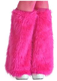 girls pink furry boot covers monster halloween costume accessory
