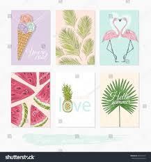 printable cute summer set filler cards stock vector 604474172